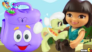 Dora The Explorer Backpack Filled Surprise Eggs Minions Blind Bag My Little Pony MLP Toy Unboxing