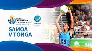 Tonga v samoa i day 1 i oceania world cup qualifiers