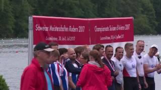 siegerehrung doppelvierer masters mnner a b sm rotsee 2 juli 2017
