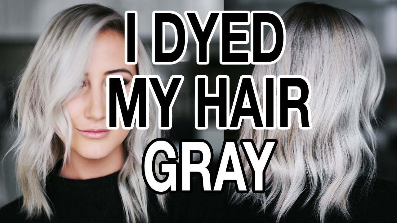 Dying My Hair Gray Silver Hair Q A Youtube