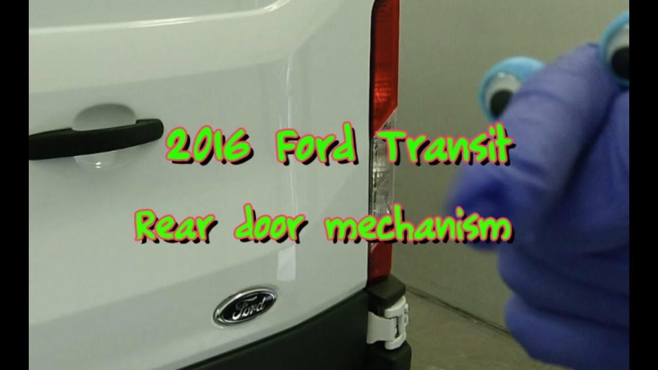 2016 Ford Transit Rear Door Release Check Strap Mechanism