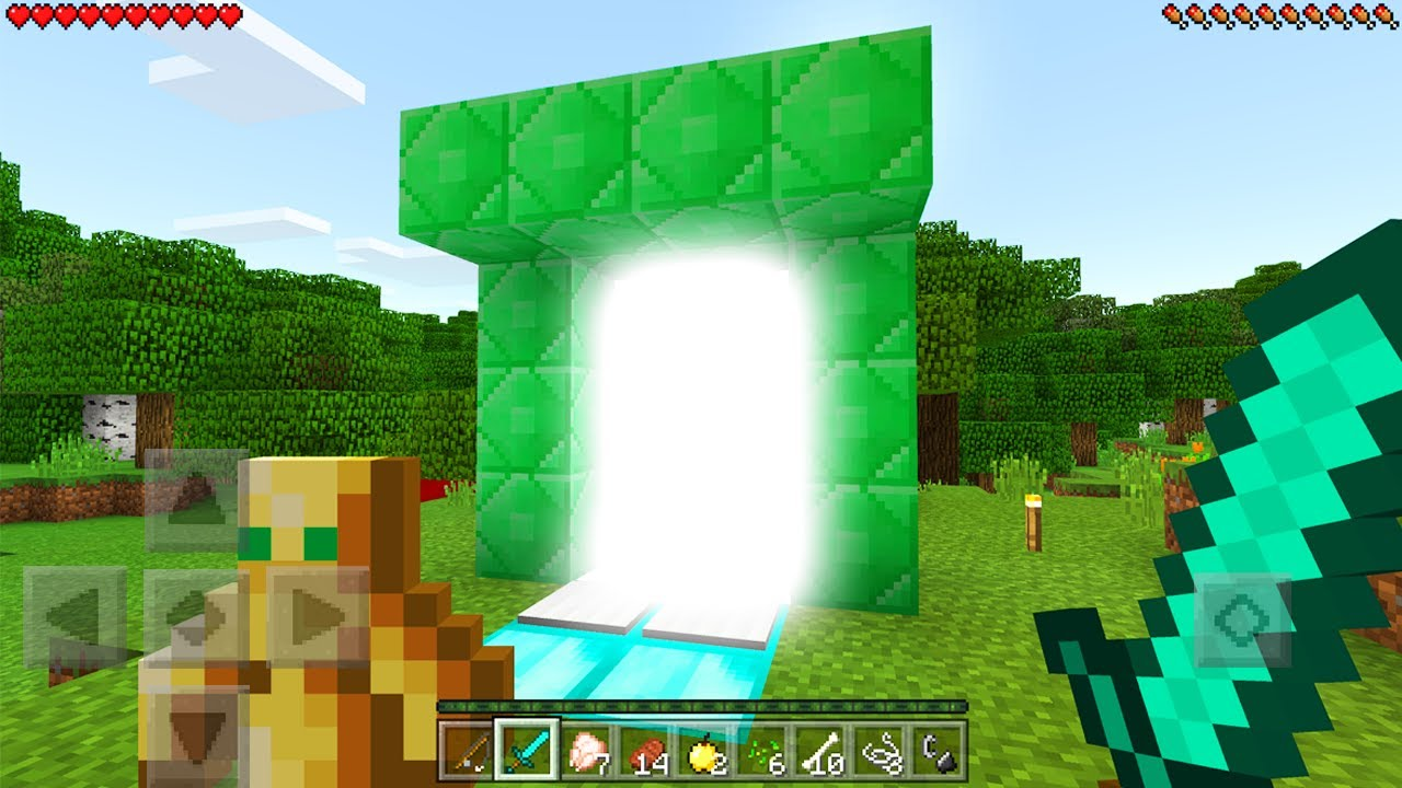 New portal in minecraft pocket edition 1 1 2 update for Mine craft pocket addition