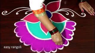 Sri Rama Navami special Rangoli  - Draw Vibrant festival Kolam for Sri Rama Navami - Color Muggulu
