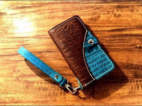 【making】-smartphone-case-/-stylish-english-design-【leather-craft】