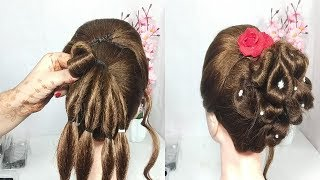 Very Easy Bun Hairstyles with Trick | prom Updo Hairstyle | cute hairstyle | hairstyles