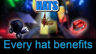 All hats with there benefits | ROBLOX mining simulator | 🎩