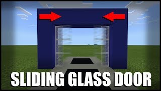 How to Make a Sliding Glass Door in Minecraft (Command Block)