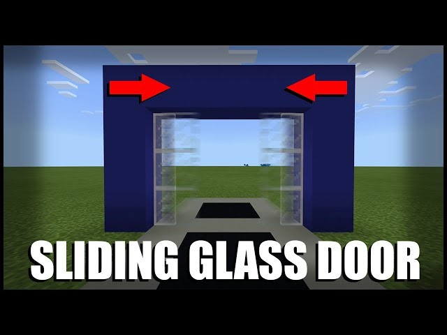 Fed X Gaming How To Make A Sliding Glass Door In Minecraft Command Block