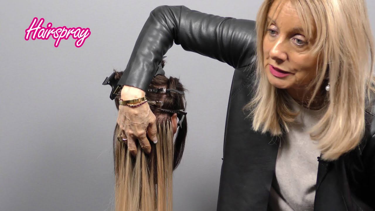 Professional Hair Extensions Training By Hairspray Youtube