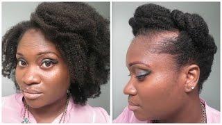 Natural Hair Tutorial: Jumbo Pin Curl Twist Updo