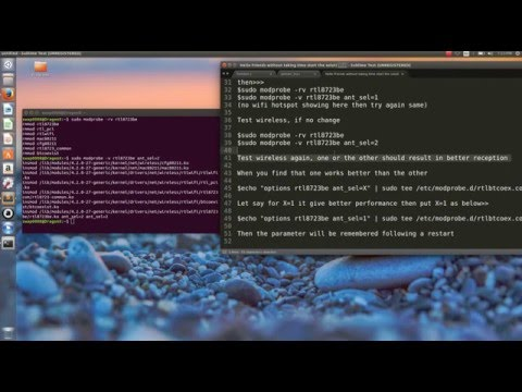 Wifi Problem Solved Ubuntu Realtek 2016  (Linux)