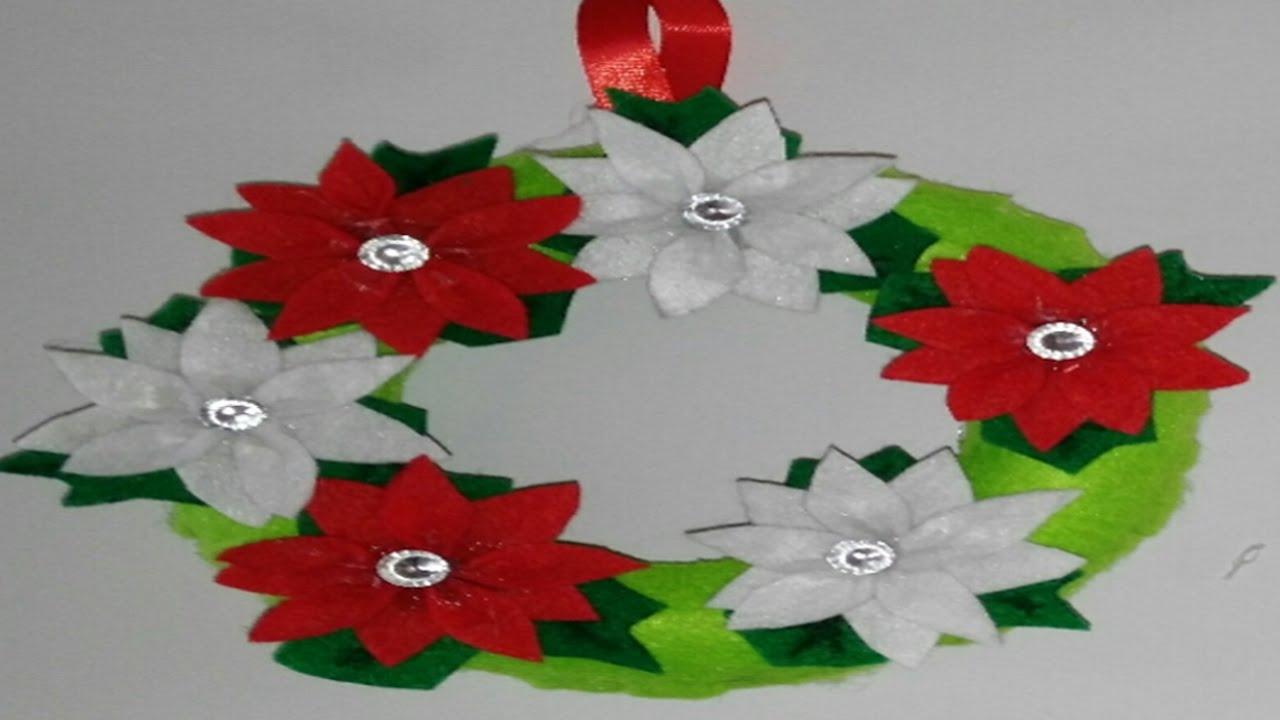 Corona navide a para puertas adornos navide os - Como hacer decoraciones navidenas ...