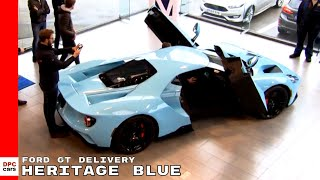 2018 Ford GT In Heritage Blue Being Delivered To Customer