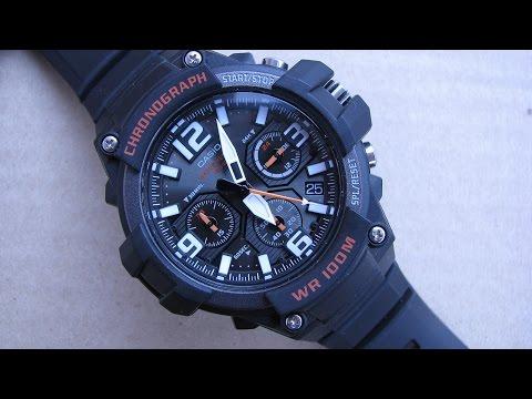 Casio Men's MCW-100H 1AVCF Heavy Duty Design Chronograph Watch