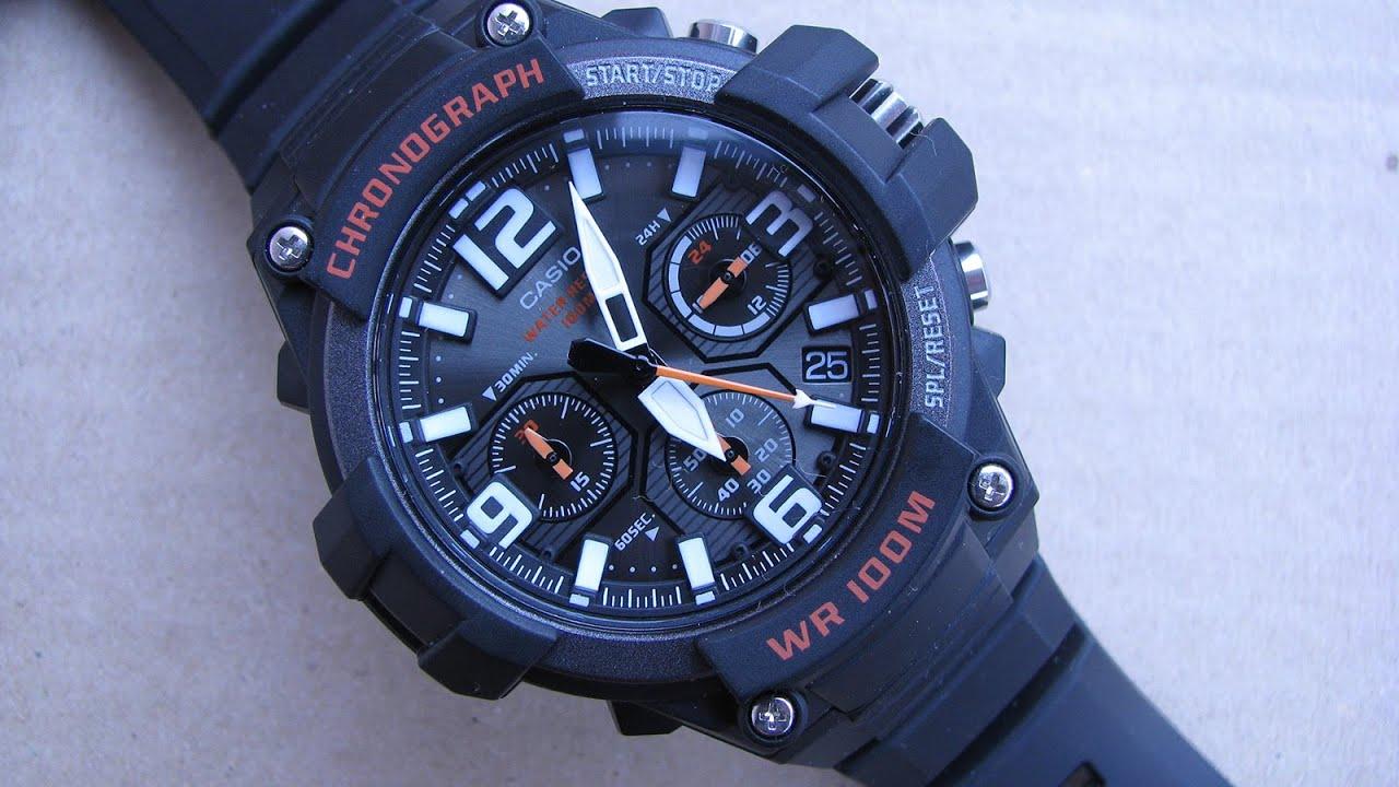 6288fd858eaa Casio Men s MCW-100H 1AVCF Heavy Duty Design Chronograph Watch - YouTube
