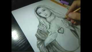 How to draw Virgin Mary By Sakis Armian
