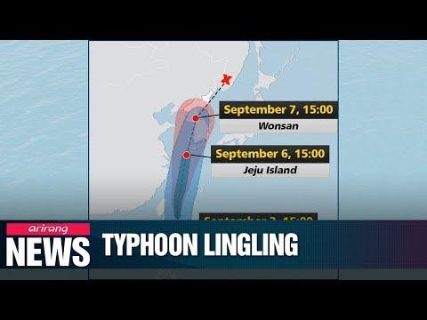 Typhoon Lingling to slam S. Korea this weekend
