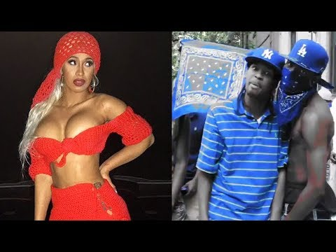 """Cardi B Upset Crips & Cocc Pistol Cree with Her IG Post Calling Blue """"Flue"""""""