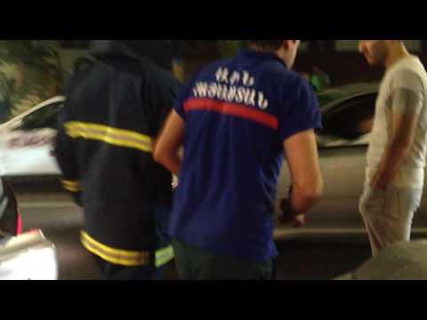 Четыре машины столкнулись в центре Еревана. Кадры с места ДТП