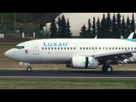 Luxair Boeing 737 (Government Aircraft) Landing at Berlin Tegel Airport HD (1080p)