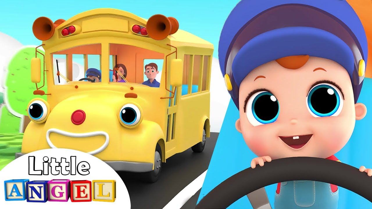 Wheels on the Bus Go Round and Round | Nursery Rhymes by Little Angel