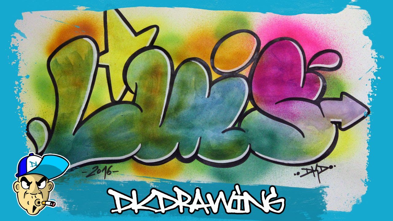 How To Draw Graffiti Names Luis 17 Youtube
