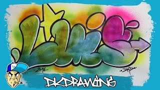 How to draw graffiti names - Luis #17