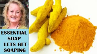 Coloring Hot Process Soap with Turmeric Spice