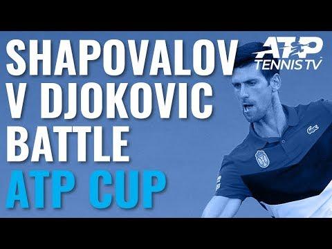 Stunning Points in Djokovic vs Shapovalov Battle | ATP Cup 2020