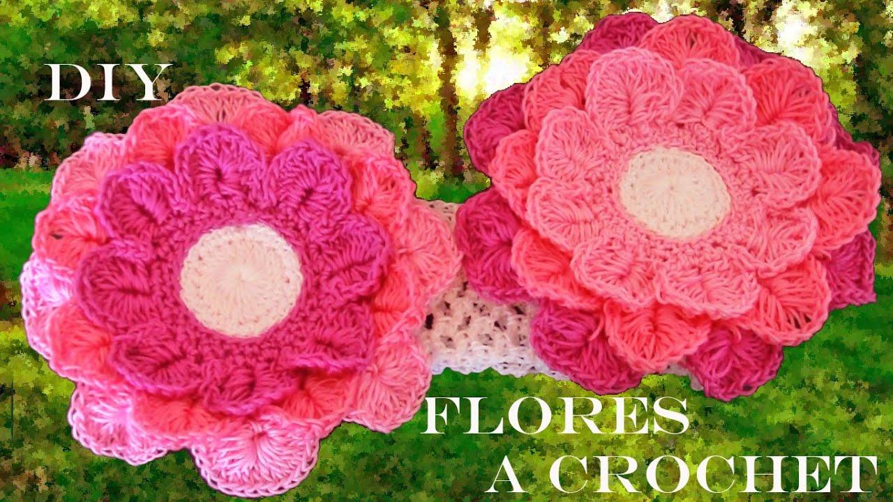 Haz crea y dise a diademas mo os y flores de tres colores - Diademas a crochet ...