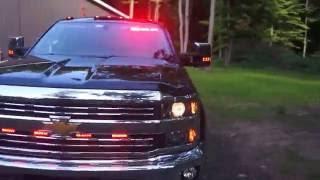 2015 Silverado 2500 LTZ Emergency Light Setup (POV) | Stephen Parent JR