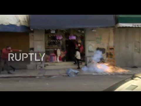 East Jerusalem: Explosions and clashes erupt during anti-Trump protests