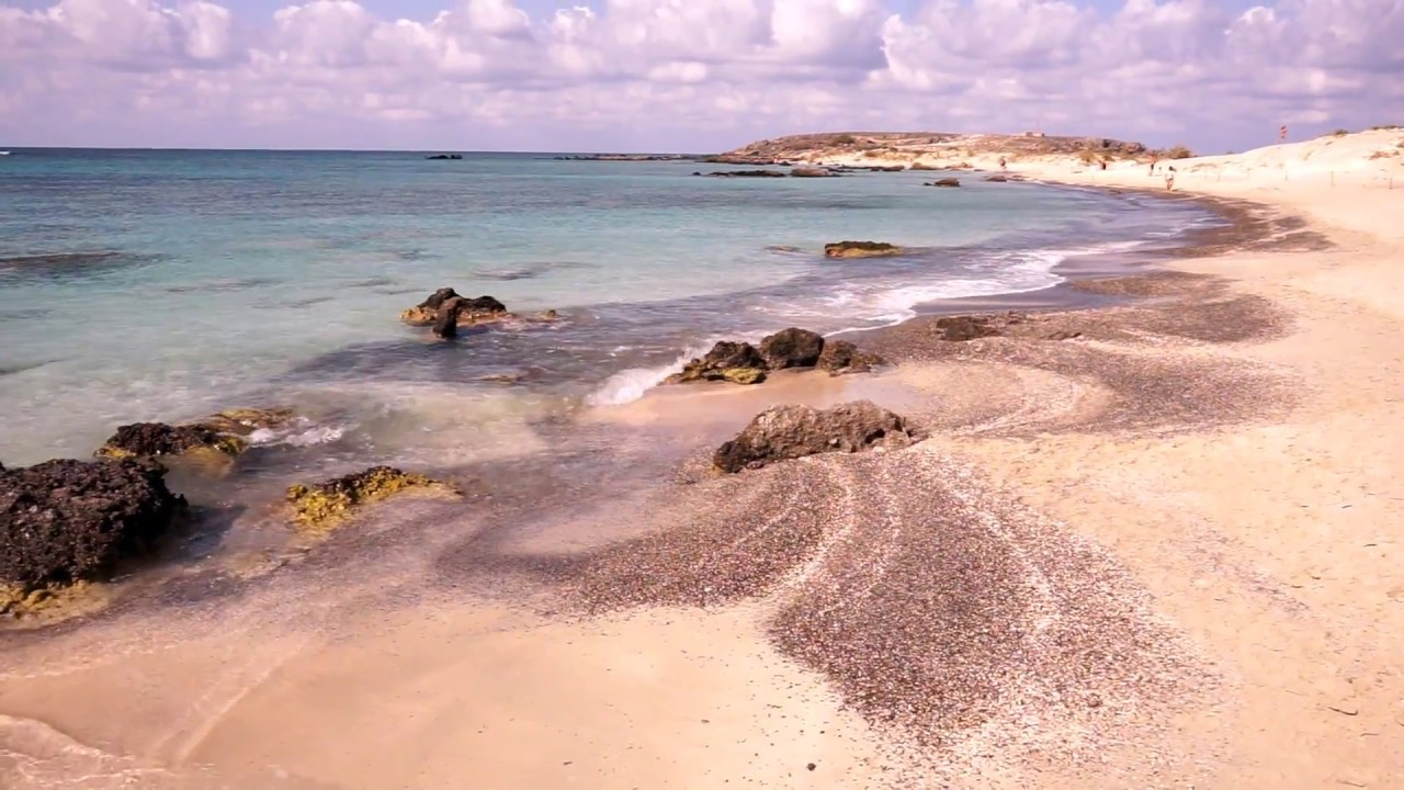 Pink Sand Beach On Crete Go Early To Elafonisi Youtube