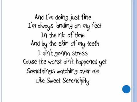 Sweet Serendipity Lyrics By Lee DeWyze