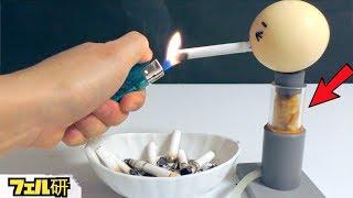【実験】タバコがいかに体に悪いかが分かる実験(1箱分) thumbnail