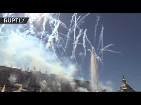 Лето в Северной столице: в Петергофе состоялась церемония открытия фонтанов