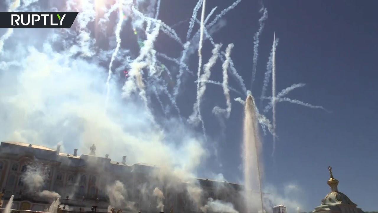 В Петергофе состоялась церемония открытия фонтанов