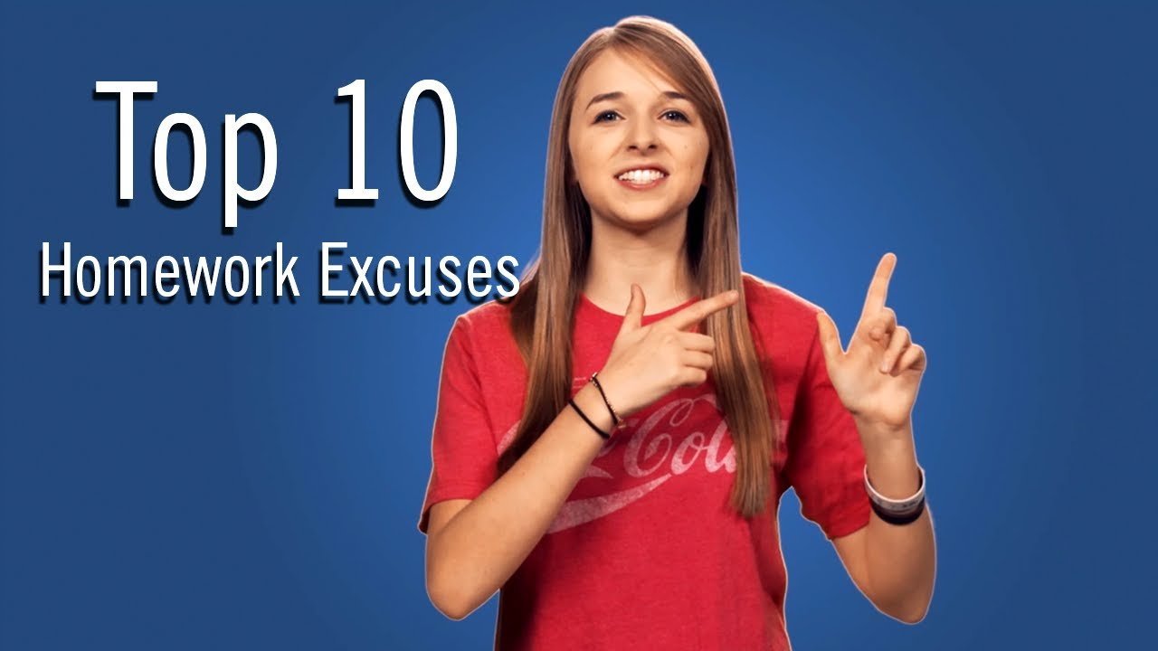 best excuses designed for virtually no homework