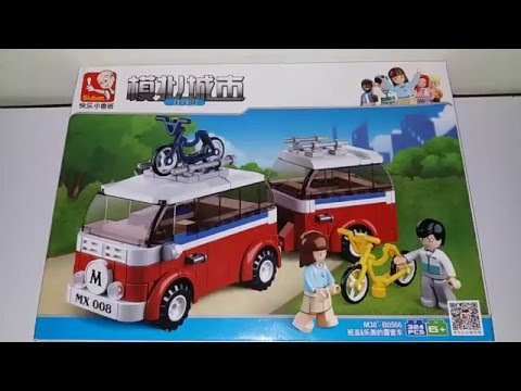Sluban Set M38-B0566 Mini Camper Van Unboxing