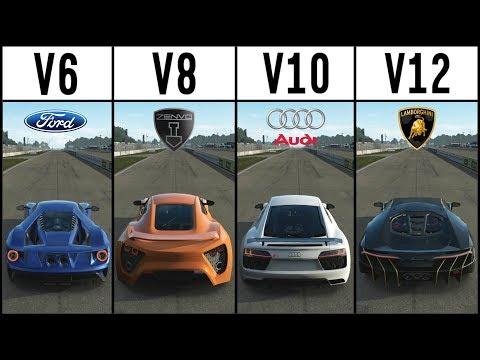 Forza 7 - EPIC DRIFT BATTLE -  V6 vs V8 vs V10 vs V12