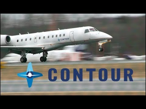 *FIRST FOOTAGE ON YOU TUBE* Contour erj-135 approach at albany