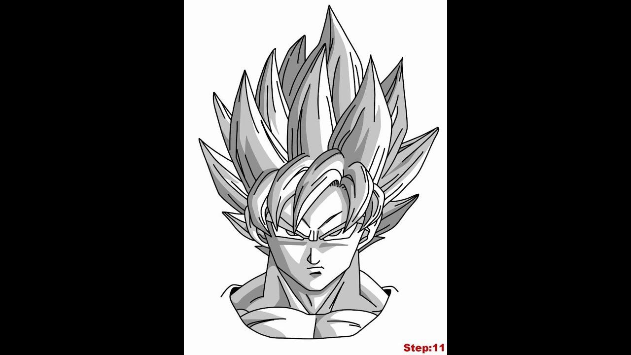 Tuto comment dessiner goku ssj blue youtube - Comment dessiner goku ...