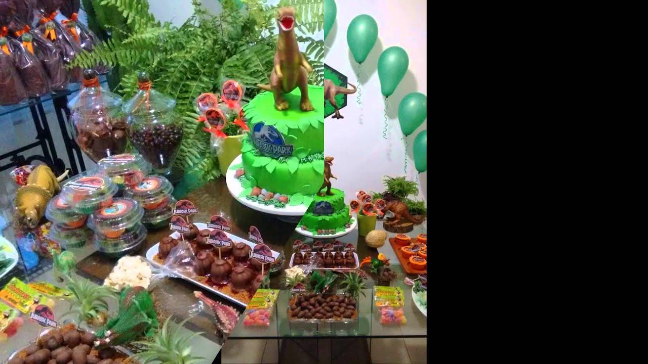 Ideias Festa dos Dinossauros Jurassick Park YouTube -> Decoração De Mesa Festa Dinossauro