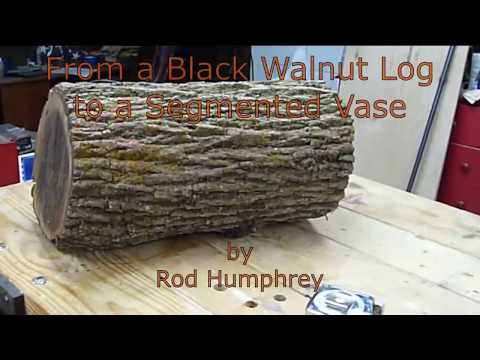 Woodturning a Segmented Vase from Firewood