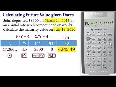 BA II Plus -Calculating Future Value given dates