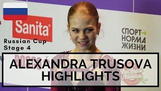 Alexandra TRUSOVA Russian Cup Stage 4 Highlights Александра Трусова Кубок России 2020 21
