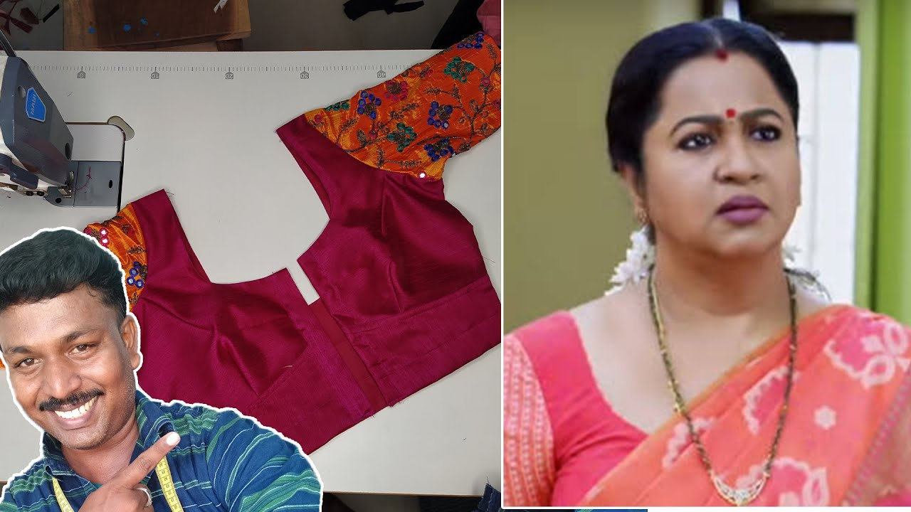 Chithi Serial Actress Radhika Style Blouse Model - Cutting & Stitching | Tailor Bro