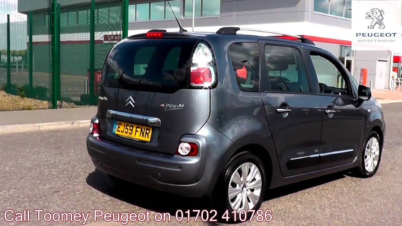 2009 citroen c3 picasso exclusive grey metallic ej59fnr for sale at toomey peugeot southend. Black Bedroom Furniture Sets. Home Design Ideas