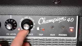 Fender Champion 40 effects