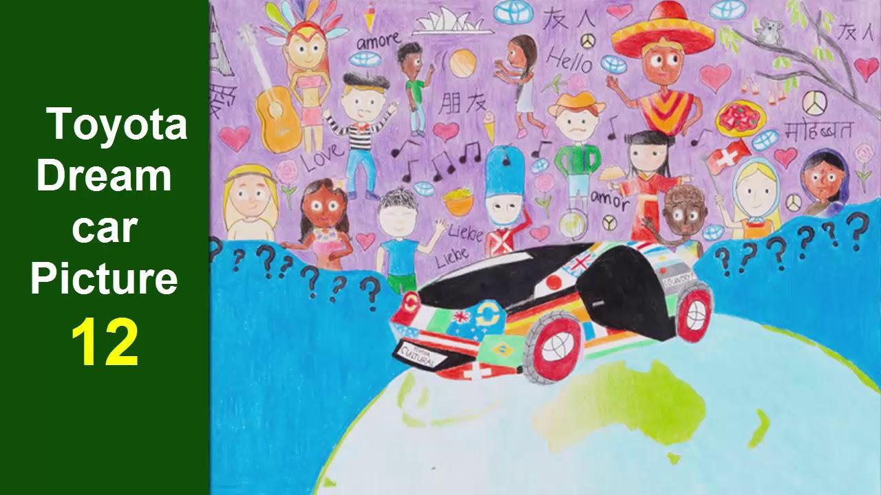 30 tranh vẽ thiếu nhi Chiếc xe mơ ước của em Toyota được giải cao